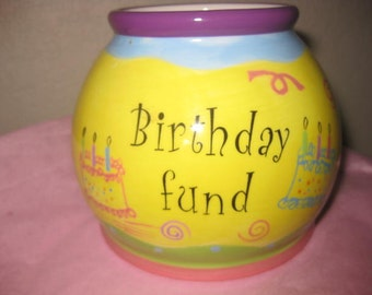 Darling Little Vintage Birthday Fund Jar by Nantucket!