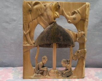 A one piece Nativity set
