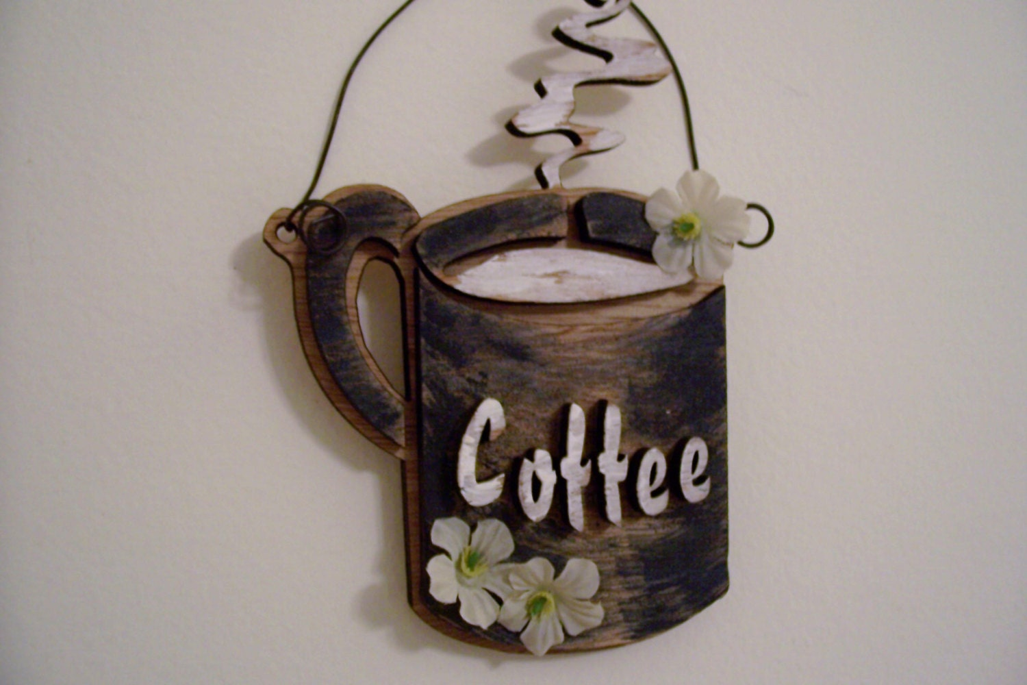 Coffee Cup Wall Hanging Wall Art Wood Wall By