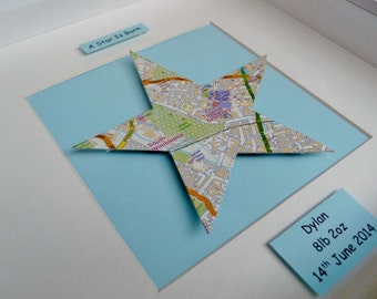 Vintage Map Frame - 'A Star is Born'