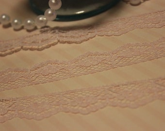 Soft Pink Dainty Scallop Lace Trim Edging