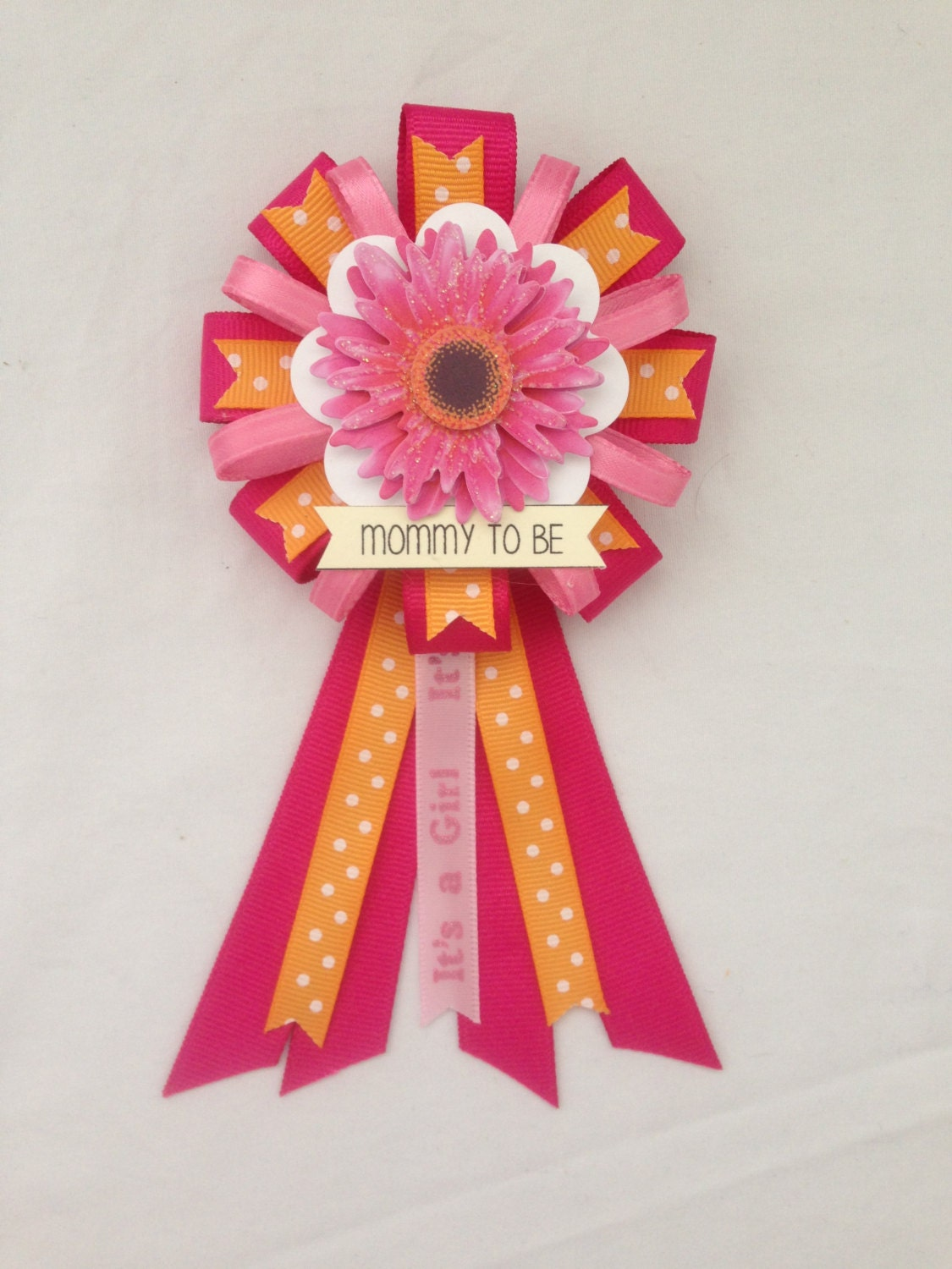 mommy to be ribbon corsage for baby shower it 39 s a girl