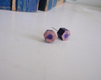 Purple color pencil studs