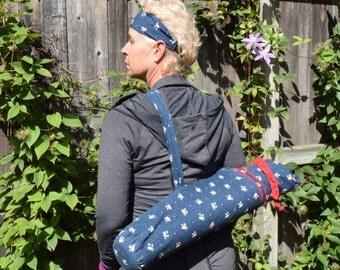 Yoga Mat Bag, Yoga Bag, Yoga Mat, Yoga Mat Carrier, Yoga Bag, Pilates Mat Bag,  Tote, Fitness Bag, Excercise Mat Bag and Headband, Yoga Tote