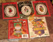 Lot of 5 Christmas Cross Stitch Kits