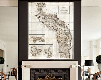 "Map of Pacific North West 1798, Vancouver Island & Puget Sound, 4 sizes up to 36x45"" Washington British Columbia - Limited Edition of 100"