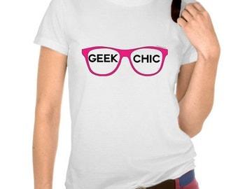Geek Chic Glasses Tshirt  (14-043)