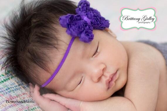 Purple Bow Baby Headband, Newborn Headband,  Infant Headband,Baby Headband, Headband Baby, Baby Headband