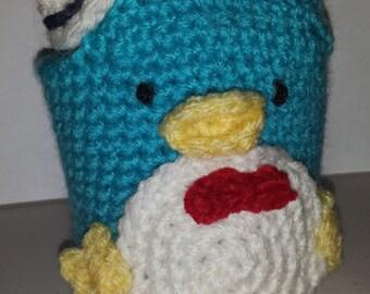 Handmade Tuxedo Sam Inspired Crochet Cup Cozy