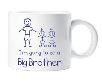Kids Smug Mug Twins Im Going To Be A Big Brother Gift Idea Childrens New Baby Present Pregnant