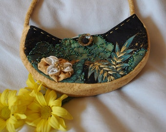 Handmade Embroidered and Beaded Purse #11