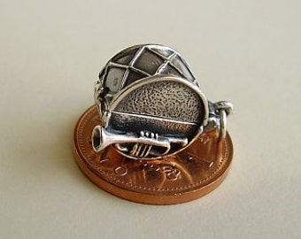 Opening Big Band Drum - Waltzing Couple Sterling Silver charm