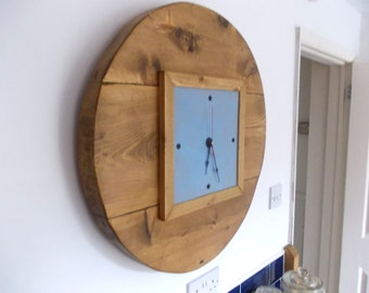 Large Hand Made Rustic Kitchen Clock 047