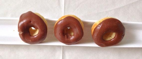 Vanilla Chocolate mini donuts