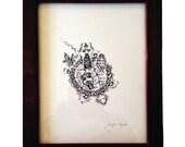 Constellation: framed digital fine art print.