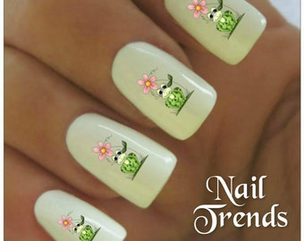 Frog nail art decals etsy frog nail decal 20 vinyl adhesive decals nail tattoos nail art prinsesfo Images