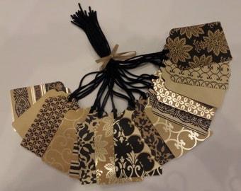 Elegance Print Gift Tag, Label, Tag, Embellishment, merchandise tag, Pre strung