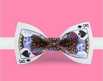Poker  Bowtie - Casino bowtie - Gamblers bowtie - Playing cards bowtie