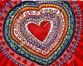 Happy Valentines! -  Original Digital Artwork on Gallery-Wrapped Canvas by K. Schowe