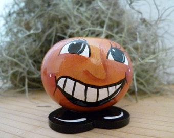All Smiles! Pumpkin Gourd Painted in Acrylic
