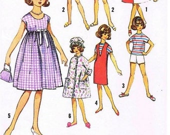 "Wardrobe Pattern for 12"" Tammy, Jan, Terry, and other similar Teenage Dolls."