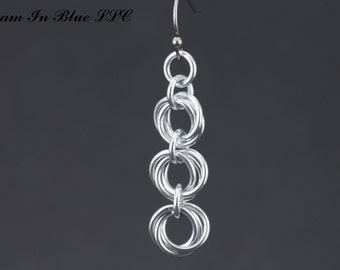 Triple Tier Mobius Earrings