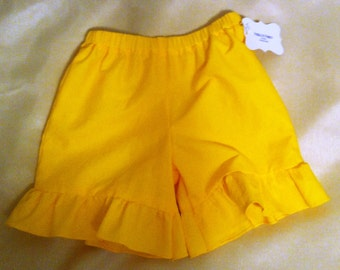 Baby/Toddler/Girls solid color ruffle shorts