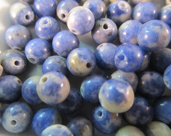 20 Sodalite Beads- 6mm Blue High Quality Spacer Bead Loose Beads