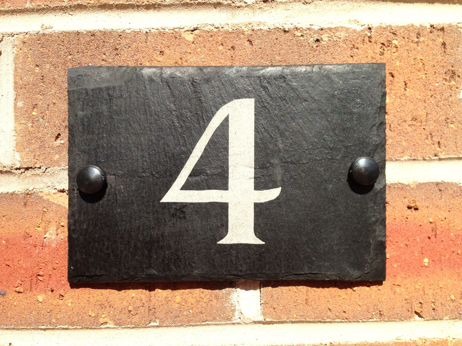 House Number Plaques Slate: Slate House Sign Door Number House Name Sign Plaque Address