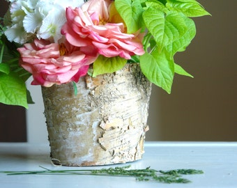 birch bark vases wood boxes, wedding flower pot, centerpieces, planter woodwork, rustic wedding table decor wood boxes