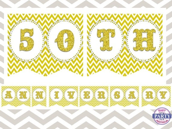 Instant Ocean 50th Anniversary : Sale th anniversary banner instant download gold and