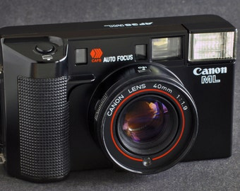 Canon ML AF35 ML 35mm Camera w 40mm f/1.9 Lens Rangefinder Type Collectible MiNTY !