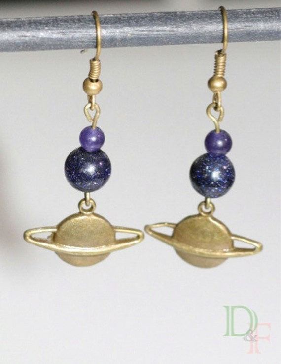 planet saturn earring - photo #17
