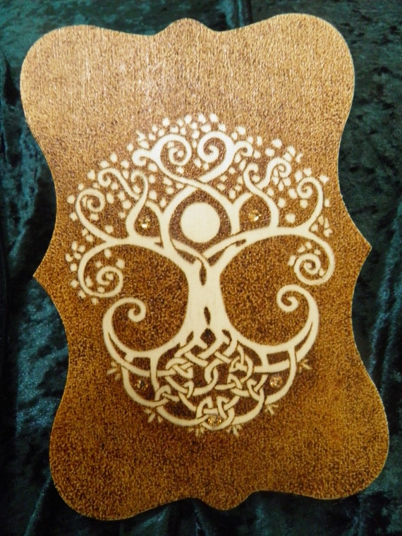 Tree of life wall decor or pagan altar piece for Altar wall decoration