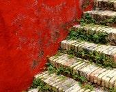Red Art - Red Canvas Art - Red Home Decor - Caribbean Art - Virgin Islands, St. Croix - St. Frederiksted Wall Art