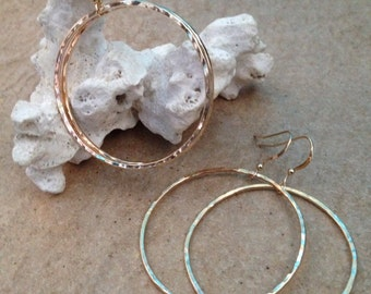 14k goldfilled hoops!