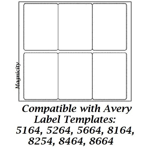 Avery 8164 blank template bing images for Avery 5166 template