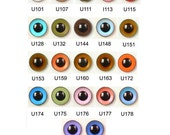 10 Pair 8mm Article U Plastic Safety Eyes Mixed Colours Round Pupils Plastic Washers Teddy Bear Doll Puppet Plush Toy Stuffed Animal Plushie