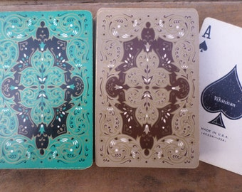 vintage double deck of Playing Cards ANTIQUE DESIGN
