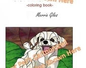 Customized coloring book with story line and flip book all contained in one book