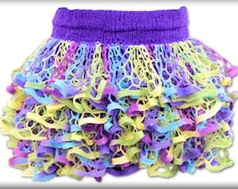 Handmade Crochet  SashayYarn Ruffle Skirt / Dress - Made to order