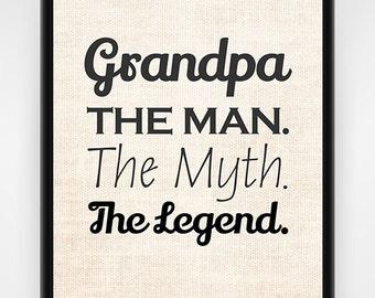 Grandpa Gift, PRINTABLE wall art, Grandpa, Christmas Gift, Gift for Grandpa, Papa Gift, Wall Art Print, Affordable Gift, Gift Idea