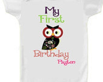 personalize baby suit my first birthday