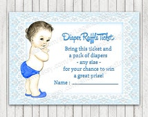 Diaper Raffle Ticket, Boys Diaper Raffle