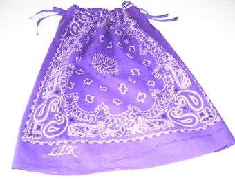 Bandana Dress or Top for Girls, Monogrammed
