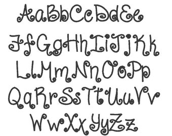 Annabelle Script Font - monogram alphabet font - BX format and other - caps, lower cases, numbers,  brush script suited boys and girls