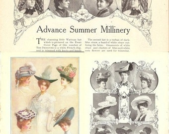 Advance Summer Millinery - Early 1900's Hats