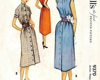 McCall's 9370 Young and In Love Dress 1953 / SZ15 UNCUT