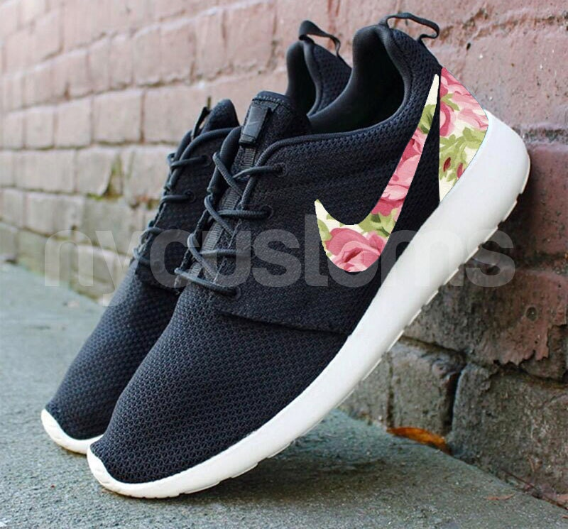 free shipping nike roshe run black anthracite rose garden. Black Bedroom Furniture Sets. Home Design Ideas
