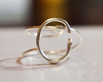 "initial ""C"" wire wrapped ring"